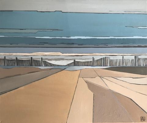 Blue horizon 60x50 Huile sur toile ©